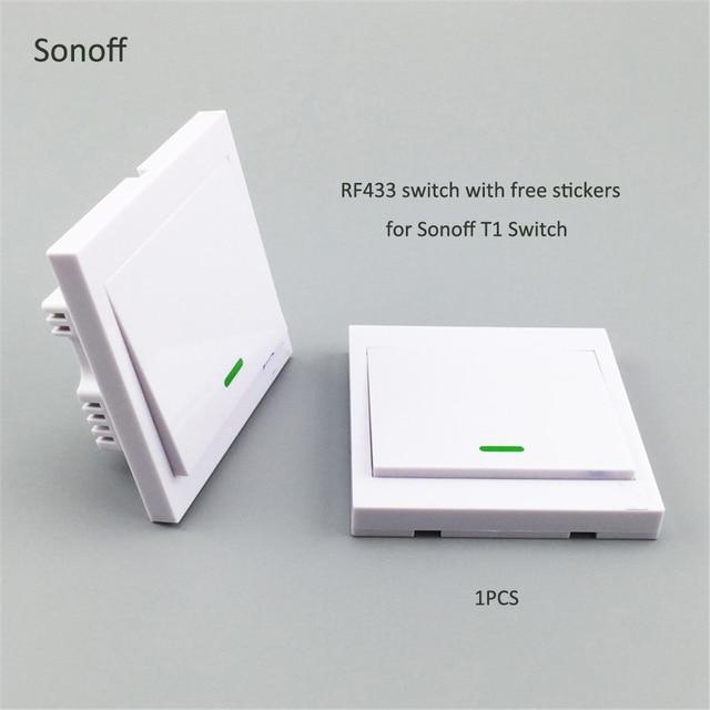 Sonoff 1 Interruptor táctil de banda interruptor de luz de encendido/apagado con pegatinas posición libre de un solo canal para Sonoff t1 interruptor