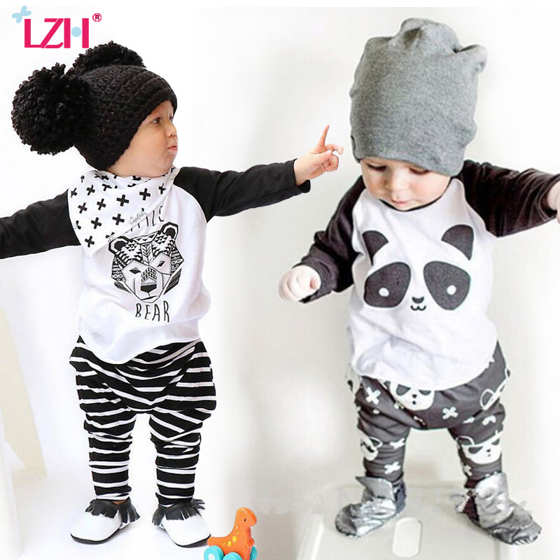 LZH Toddler Boys Clothing Sets 2017 Winter Boys Clothes Set T-shirt+Pants 2pcs Outfit Kids Sport Suit For Boys Children Clothes