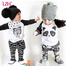 LZH Children Clothes 2017 Autumn Spring Boys Clothes font b T shirt b font Pants 2pcs