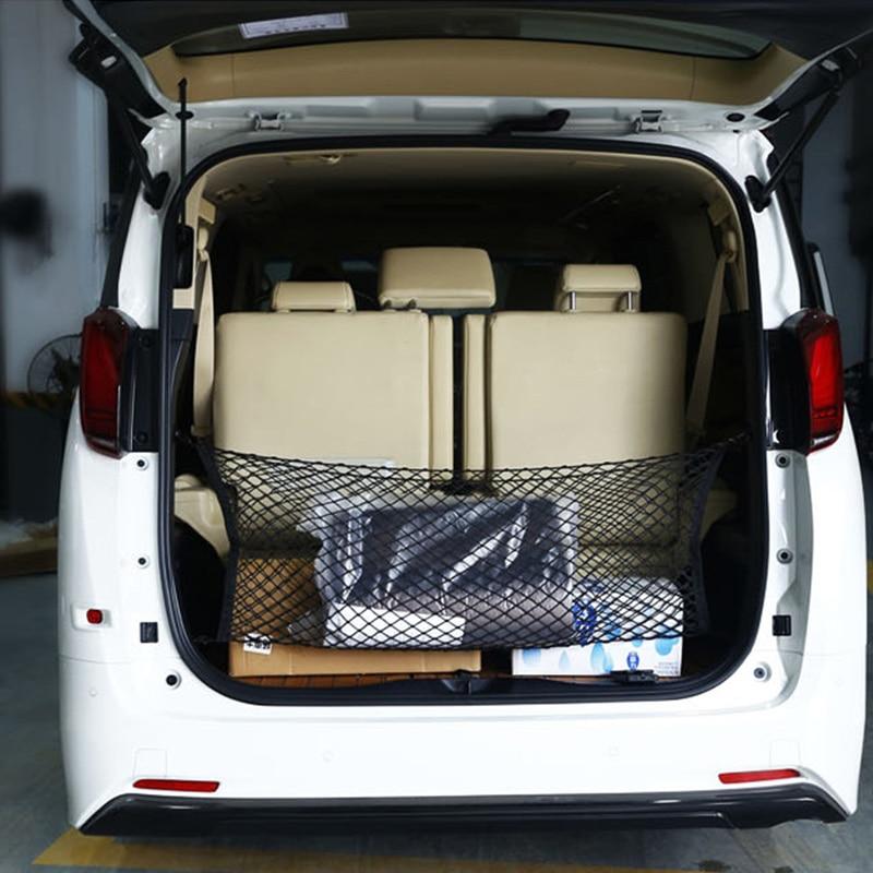 110x50 см Автомобильный багажник задний багаж для хранения багажа нейлоновый эластичный сетчатый держатель с 4 пластиковыми крючками карман для автомобиля фургон пикап внедорожник MPV