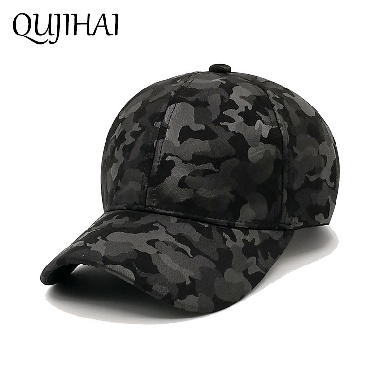 QUJIHAI Camouflage Baseball Cap Men Hip Hop Snapback Caps Women Dad Hat For Men Gorras H ...