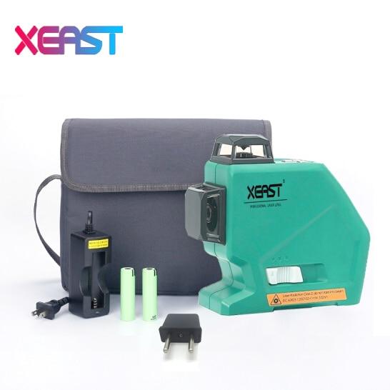 Xeast XE-803 12 линий лазерный уровень наливные 360 горизонтальный и вертикальный крест супер мощный лазерный 3D лазерный уровень PK MW-93T