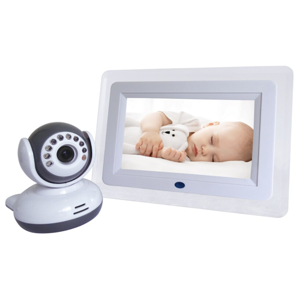 Home Security 2.4GHz Digital Wireless Camera 7 Inch LCD Display Video 2-way Talk Camera Baby Monitor 4 Channels 2017 new gift with uv lamp remote control lcd display automatic vacuum cleaner iclebo arte and smart camera baby pet monitor