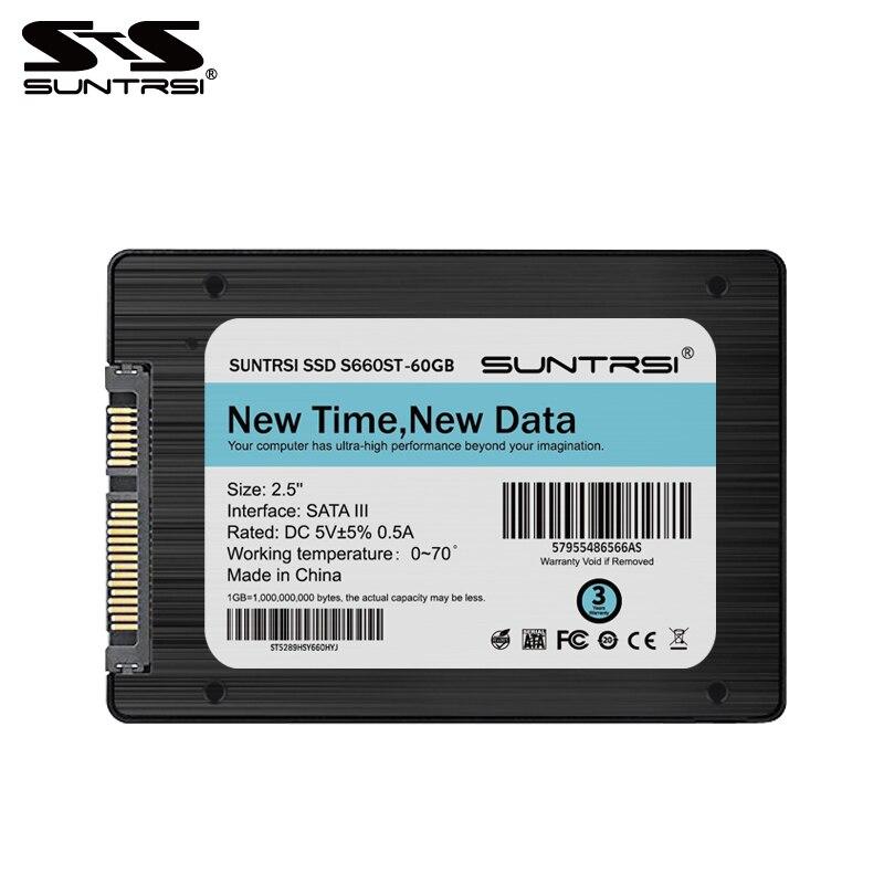 Suntrsi Internal Solid State Disk SSD 120 GB SATA3 2.5 polegada S660ST SSD Preto de Alta Velocidade para Laptop PC Desktop Livre grátis