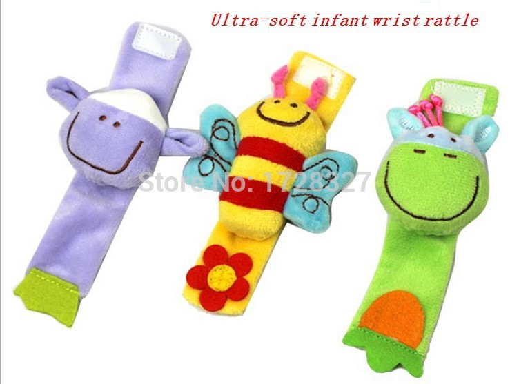 2014 New style Baby rattle toys High Contrast Garden Bug Wrist Rattles christmas musical toy for baby gift