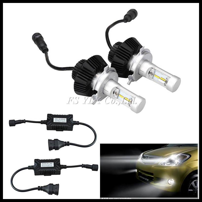 ФОТО H4 9003 HB2 50W 8000LM G7 LED Headlight Kit LUXEON ZES LUMILED Chip Fanless 6500K Xenon White High/Low H4 Car LED headlight bulb