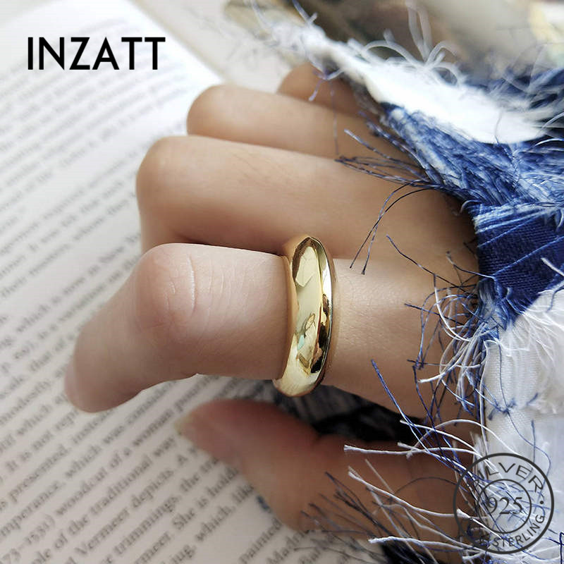 INZATT Real 925 Sterling Minimalist Moroccan Style Ring For Fashion Women Geometric Fine Jewelry Accessories 2019 Gift