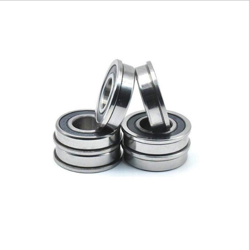 F606-2RS 6x17x6 Miniature Flanged Ball Bearings Rubber Sealed Bearing 20 PCS