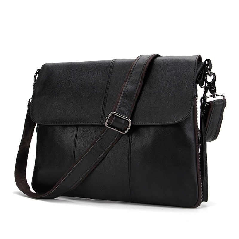 d43dad9a61 ... MVA Messenger Bag Men Genuine Leather Men Bag Satchels Solid Zipper Crossbody  Bags Casual Men s Shoulder ...