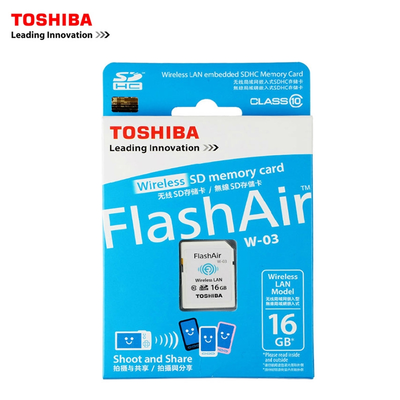TOSHIBA FlashAir W-03 WiFi SD Card 16GB Class10 Memory Card Flash Card For Digital Camera,WIFI download photo video to phone etc