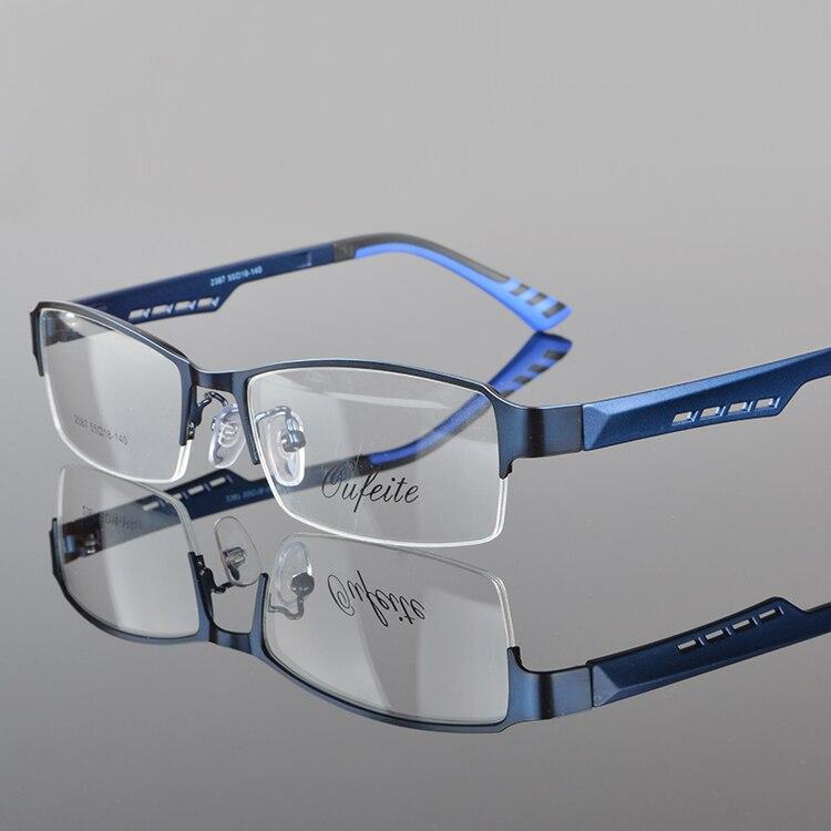 Herrglasögonramar Metall Halvkantfria glasögon Affärsglasögon - Kläder tillbehör - Foto 4