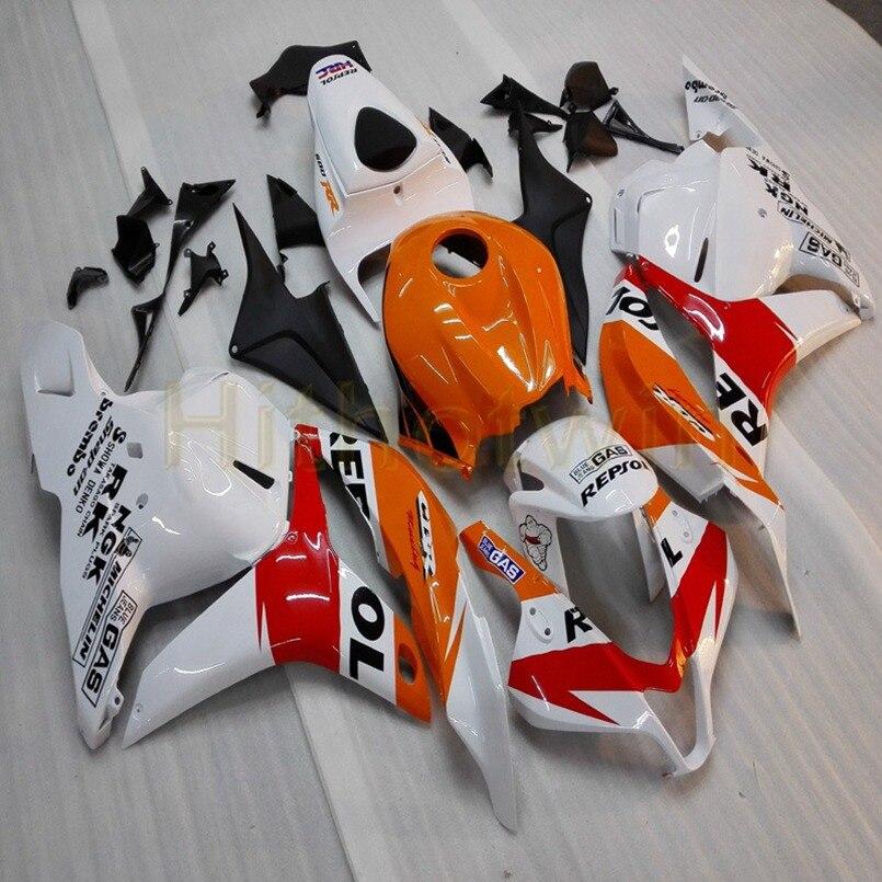 Изготовленный На Заказ ABS Пластиковый обтекатель для CBR600RR 2009 2010 2011 2012 полные комплекты обтекателей + винты черная литьевая форма M2 - 6