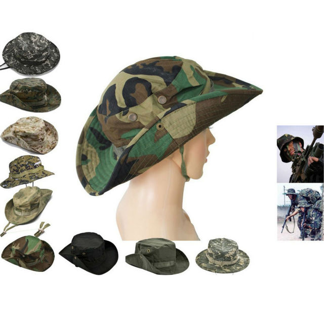 Outdoor Fishing Hunting Army Marine Bucket Jungle Cotton Cap Tactical Head  Wear Military Hat 0381cebfd9e