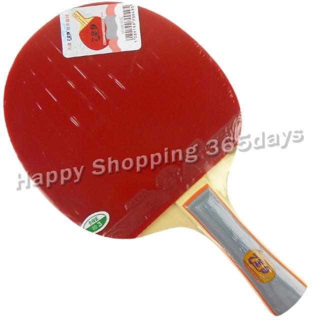 RITC 729 Draudzība 1040 # Galda tenisa rakete ar kasti PingPong Shakehand ilgi rokturis FL