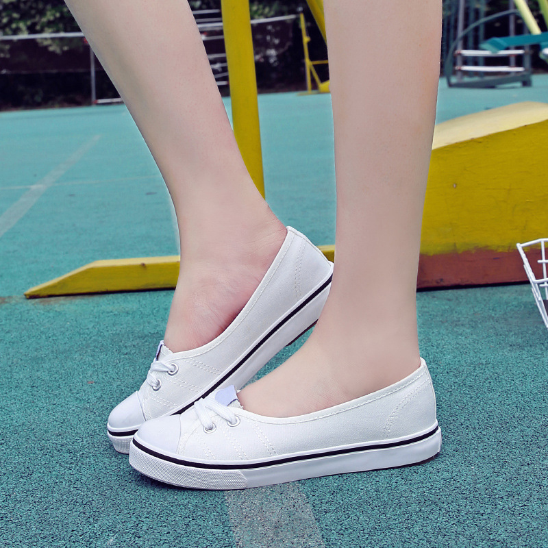 Women Shoes Ballet Flats Loafers Casual Breathable Women Flats Slip On Fashion 2018 Canvas Flats Shoes Women Low Shallow Mouth summer breathable hollow casual shoes women slip on platform flats shoes fashion revit height increasing women shoes h498 35