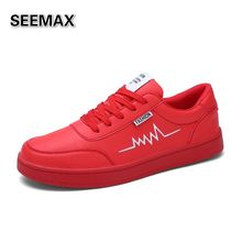 7 Colors Skateboarding Shoes Men Classic 2016 Sports Sneakers Low Leather Solid All White All Black Red Green Orange Original