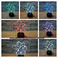 Fashion Toy Gift Pokemon Series 7 Colors 3D Anime Animal Frog LED Illusion Night Light Table Lamp Pokeball Bulbasaur Xmas Gift