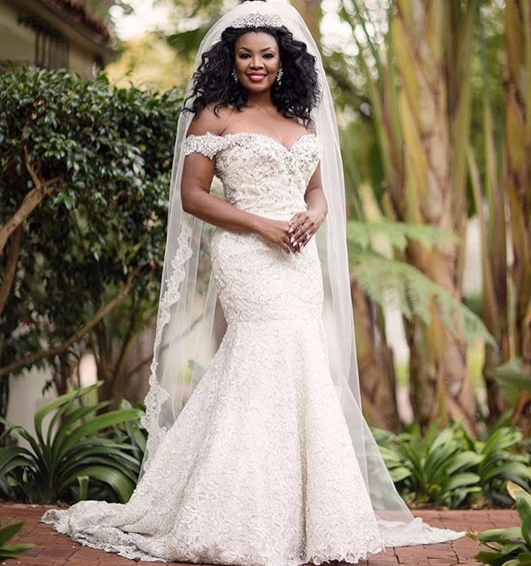 Popular african bridal dress buy cheap african bridal for Plus size beaded wedding dresses
