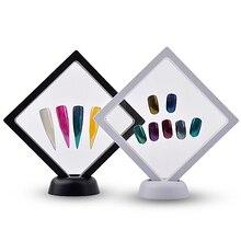 1 Pcs Nail Display Stand Holder Acrylic PET Membrane Nails Deigns Showing Board Manicure Art Tools nail polish organizer