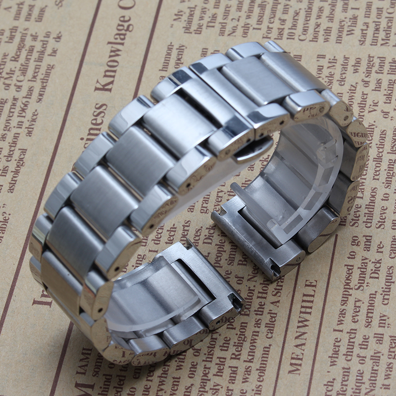 2016 New High quality Stainless steel Silver watchband bracelets 24mm 26mm 28mm big size watchband for
