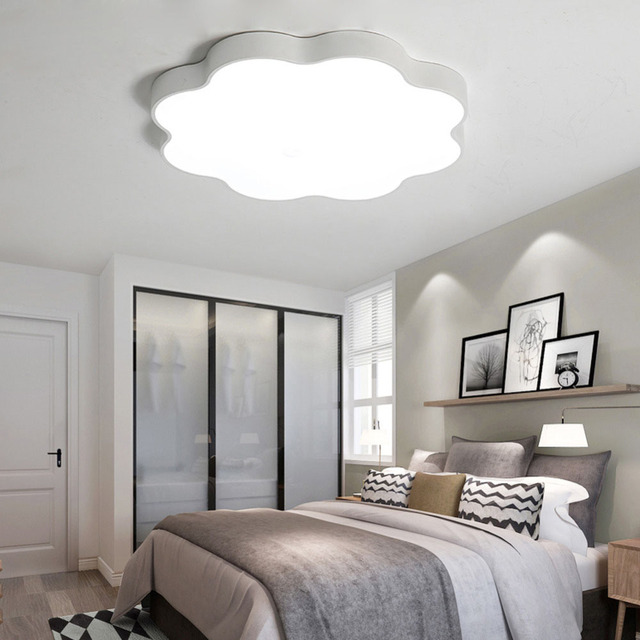 Ultra Thin Simple Modern Led Bedroom Ceiling Lights Children Clouds