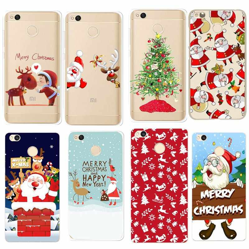 Funda For Xiaomi Redmi Note 5 Cases Lovely Santa Claus Soft Phone Cover Coque For Xiaomi Mi A1 Xiomi Redmi 4 X 4X Note4 5A Case