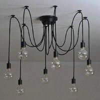 Free Shipping 6 8 10 12 14 Nordic Retro Edison Bulb Chandelier Vintage Loft Anti Que