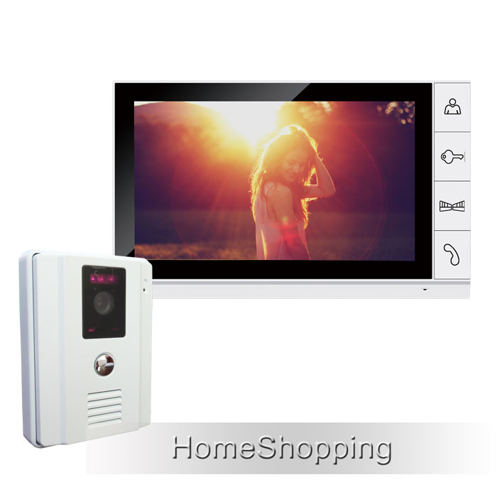 FREE SHIPPING Brand New 9 inch Color TFT LCD Screen Video Door Phone Intercom System + 1 White Door Camera + 1 Monitor IN STOCK free shipping wired new 9 inch tft lcd monitor video door phone intercom system with 1 night vision outdoor camera in stock