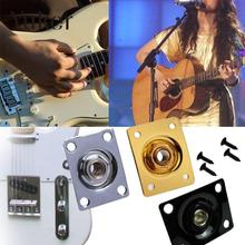 Electronic Bass Guitar Square Socket Hole Output Metal Parts Accessories