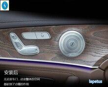 Аксессуары! мэтт Для Mercedes Benz E-Class E-класса W213 2016 2017 нержавеющая Сталь Двери Автомобиля Спикер Литья Отделка 4 Шт./набор