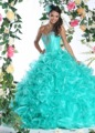 Menta vestido de Baile Puffy Quinceaneara Vestidos Baratos 2016 Cristais Lace-Up Sweetheart 15 16 Princesa Vestidos de Baile Brilhantes