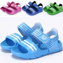 458a723453a1d 2018 sandales de plage d été de marque enfants sandales garçons et filles  en cuir chaussures d été décontracté sandales de Sport.