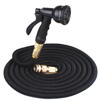 High Quality 25FT 150FT Garden Hose Expandable Flexible Water Hose Plastic Hose Handy Pipe With Spray Gun Watering Double Latex