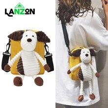 Messenger Bag with Doll Shoulder Bags for Women Girls Kids Fashion Canvas Cute Cartoon Mobile Phone Handbag Crossbody Gifts