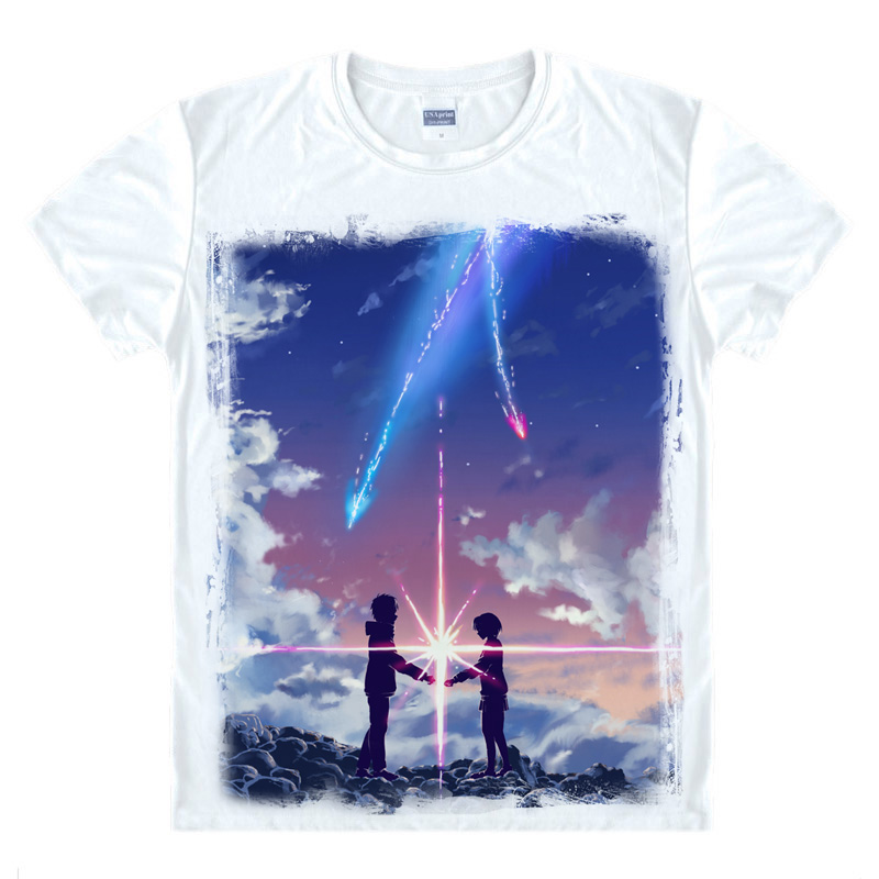 Coolprint Anime Shirt Your Name Kimi No Na Wa T Shirts Short Sleeve
