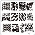 New Arrival DIY Nail Art Image Stamp Stamping Plates Manicure Template XJ Series Nail polish Stamping tool Free Shipping Anne