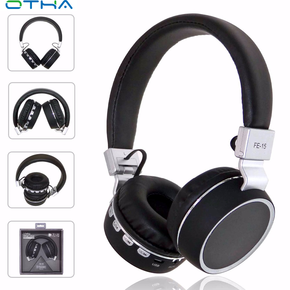 OTHA Wireless+Wired Headphones Bluetooth Foldable FM Radio Headset With Microphone Bluetooth Earphone For iPhone fone de ouvido ttlife mini bluetooth earphone usb car charger dock wireless car headphones bluetooth headset for iphone airpod fone de ouvido