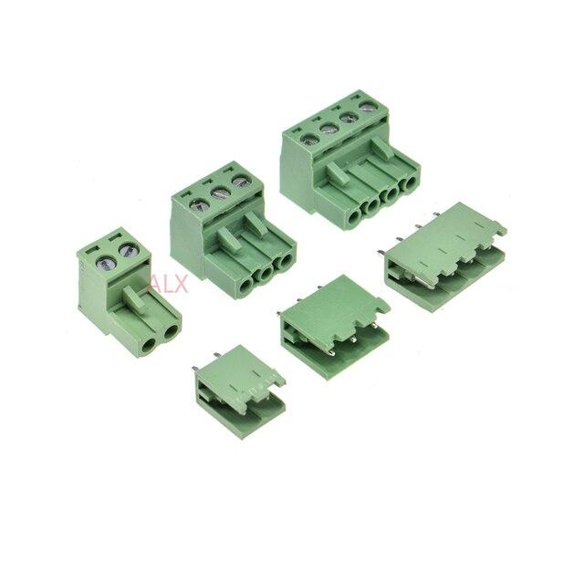 10 ENSEMBLES 2EDG 2/3/4/5/6/7/8/9 pin vis bornier connecteur 5.08mm pitch PLUG + ÉPINGLE Droite TÊTE SOCKET pour pcb 2 p 3 p 4 p