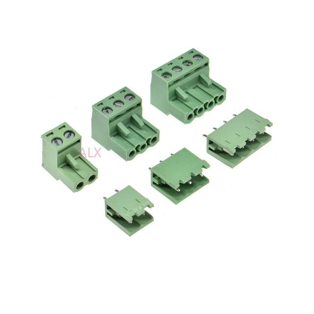 10 ensembles 2EDG 2/3/4/5/6/7/8/9 broches bornier connecteur 5.08 MM pas fiche + droite broche en-tête prise pour pcb 2 p 3 p 4 p