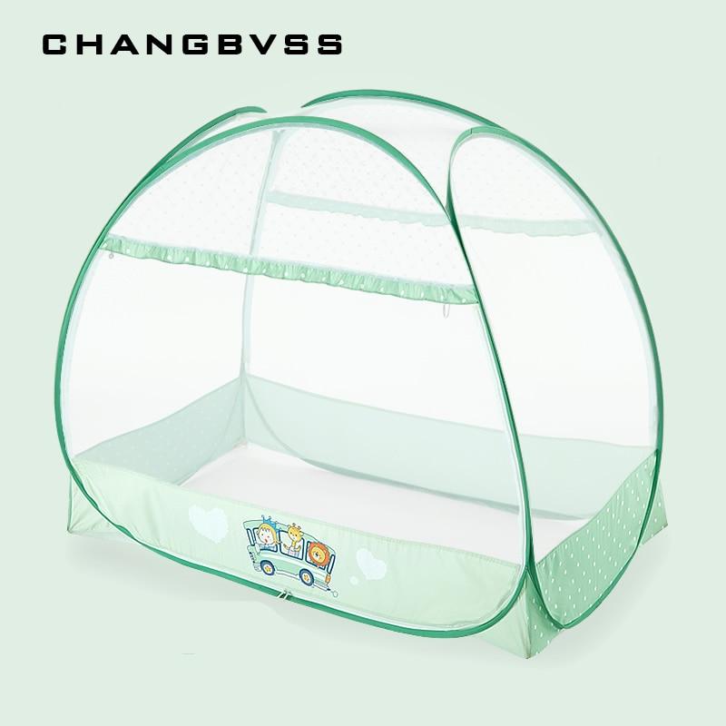 Двойные двери Тип шпаргалки Юрт сетки большее пространство детская кровать с балдахином Путешествия Дети отдых сетки складной тент легко р...