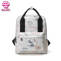 GAIJIA new factory outlet school bags for teens backpacks male and female fashion high quality canvas leisure backpacks