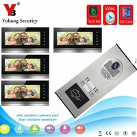 YobangSecurity 7 Inch Video Door Phone Doorbell Camera Intercom System RFID Card With Video Recording And