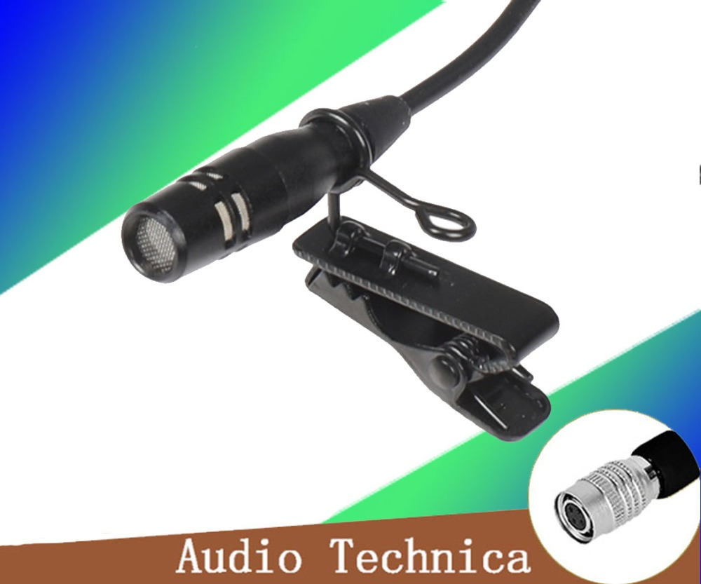 4 Pins 4PIN Hirose Connector Tie Clip On Mic Lavaliar Microphone For Audio Technica Wireless Bodypack Transmitter