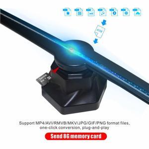 Image 3 - Tbdsz 3d wifi 홀로그램 광고 디스플레이 led 팬 42 cm 홀로그램 이미징 알몸 눈 led 프로젝터 광고 플레이어 기계