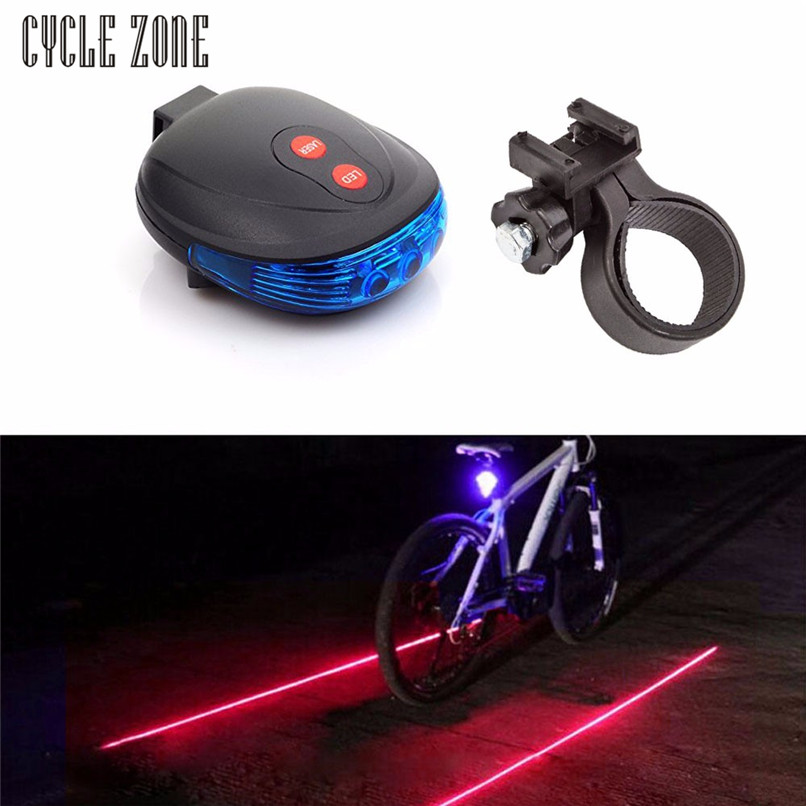 Cycle Zone Outdoor Dynamic 2 Laser +5 LED Flashing Lamp Rear <font><b>Light</b></font> Cycling Bicycle <font><b>Bike</b></font> Tail slow <font><b>blink</b></font> and continue <font><b>light</b></font> image