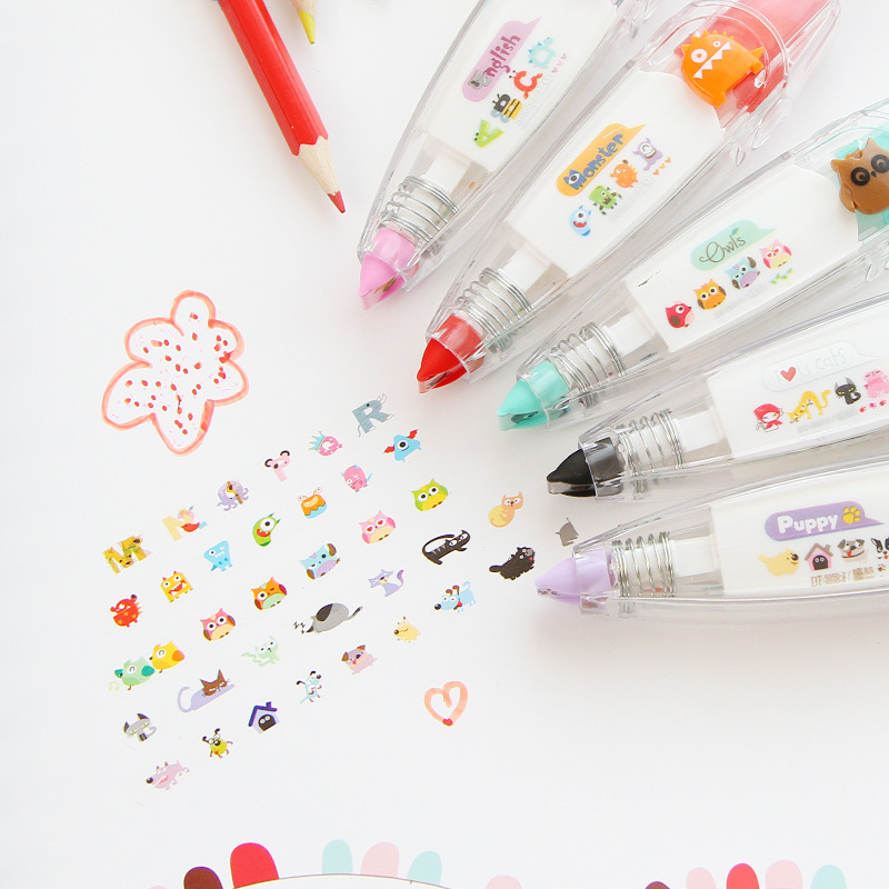 5 Styles Cute Correction Lace Stationery Lace Push Correction Tape
