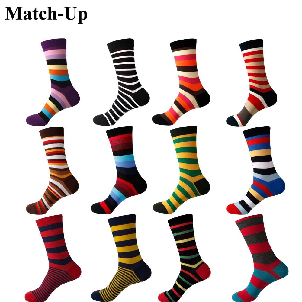 Match-Up New Styles Wholesale Man's Brand Cotton Socks Stripe Socks  Free Shipping
