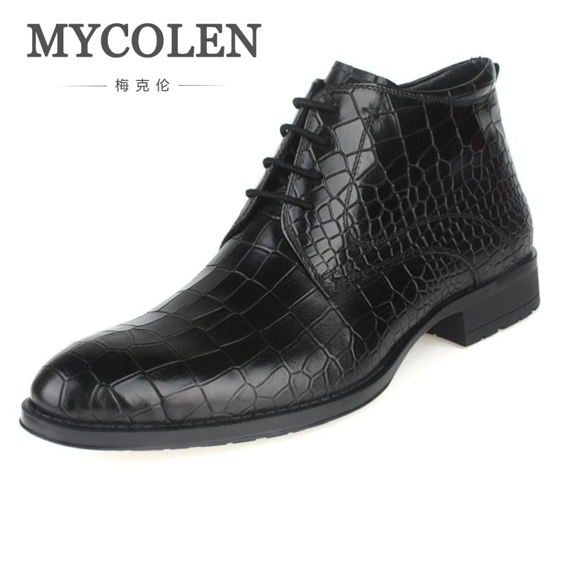 MYCOLEN New Genuine Leather Winter Mens Boots.Ankle Boots Man Military Shoes Stone Pattern Man Footwear Tenis Masculino AdultoMYCOLEN New Genuine Leather Winter Mens Boots.Ankle Boots Man Military Shoes Stone Pattern Man Footwear Tenis Masculino Adulto