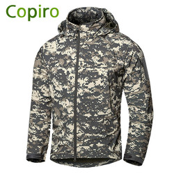 Copiro Waterproof Executive Men's Outdoor Tactical Military Softshell Jacket Hiking Clothes Windproof Fishing Clothing Coats