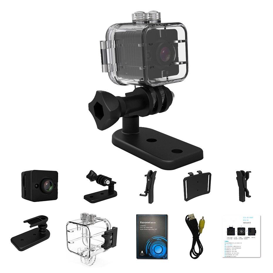 Mini Camera SQ11 SQ12 Recorder Motion Sensor Full HD 1080P Night Vision Waterproof Shell Micro Cam AVI Video Camcorder Recorder